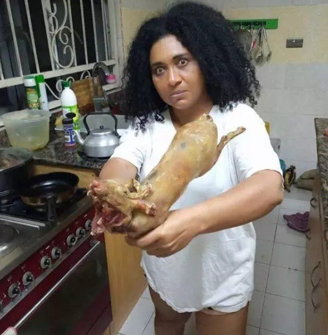 Veteran Actress, Hilda Dokunbo Seen With Skinned Rabbit (Photo)