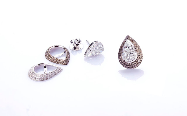 Champagne diamonds collection from Aurelle by Leshna Shah