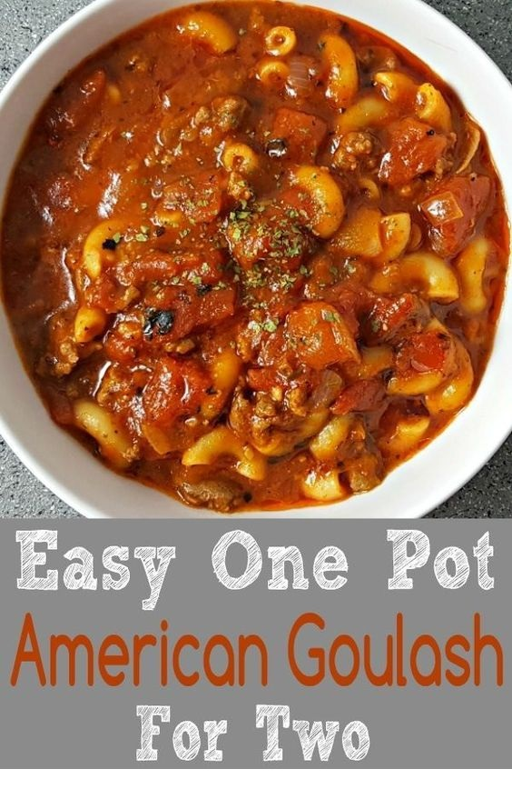 Easy One Pot American Goulash Recipe