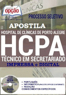 Apostila Processo Seletivo HCPA 2016 Técnico em Secretariado