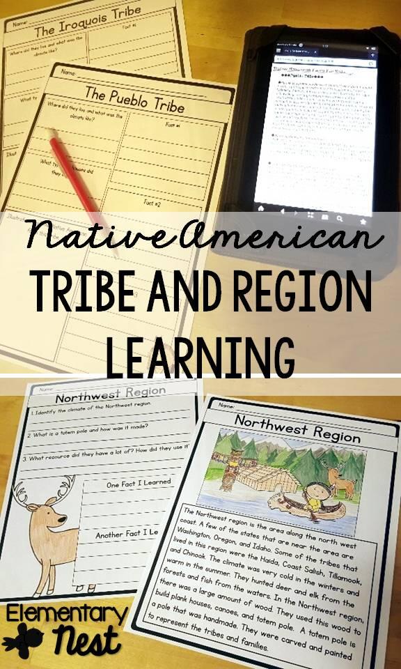 Second Grade Nest: Lesson Ideas for Native Americans