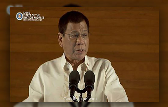 SONA 2016: President Duterte said, 'Fingerpointing is not the way'
