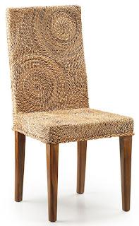 Silla comedor anea sillas mimbre, sillas junco, sillas abaca