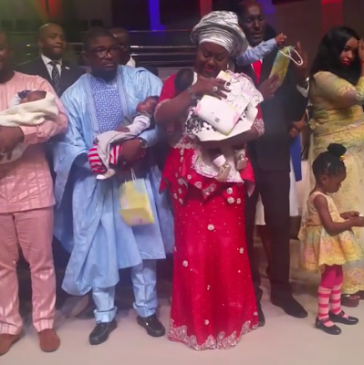 Movie producer, Emem Isong and hubby dedicate their twins