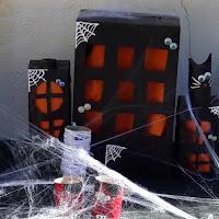 bricolage lumineux village halloween hanté atelier creation activité enfants halloween