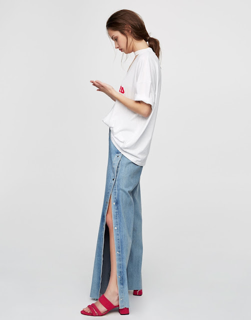 Jeans aberturas laterales Pull and bear