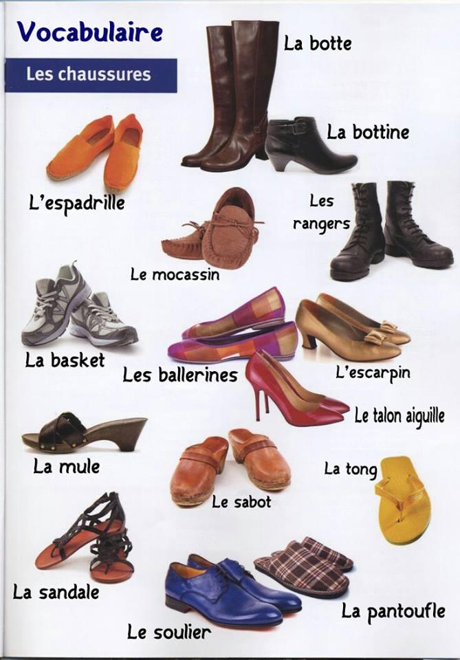 vocabulaire fran ais des v tements et chaussures lettres et langue fran aise. Black Bedroom Furniture Sets. Home Design Ideas