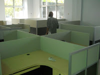 cubicle workstation meja partisi kantor