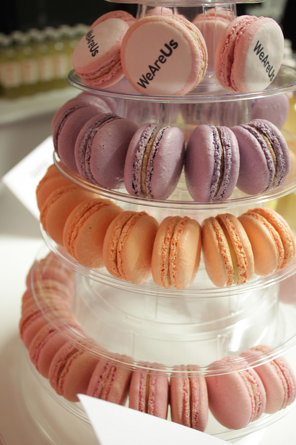 pastel macaroons, we are us, blog event london