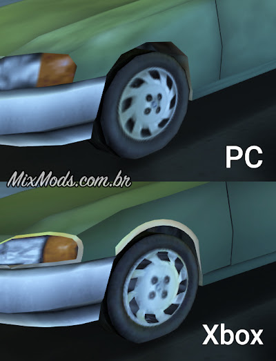 gta iii mod hd xbox cars pc comparison