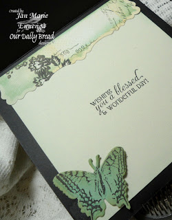 Our Daily Bread Designs, flourished verses, two step butterfly