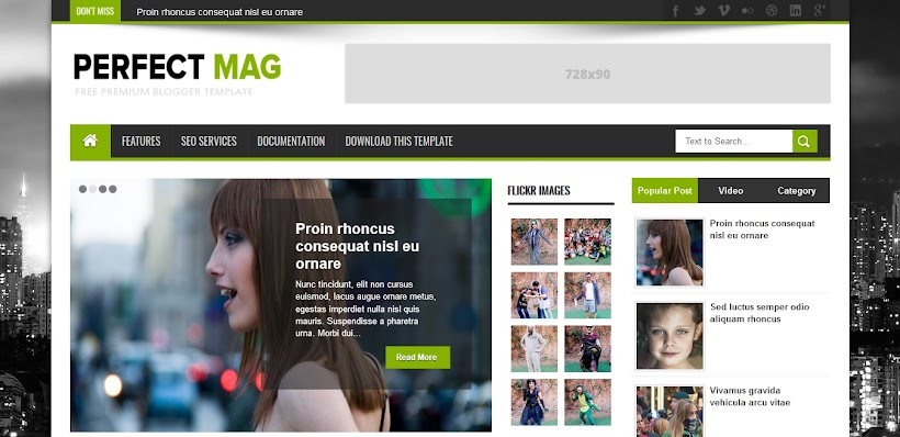 Perfect Mag Free Blogger Template