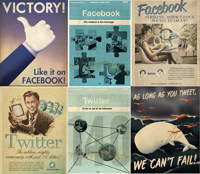 retro graphic design social media