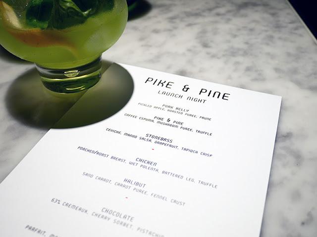 New menu launch night at Pike & Pine Brighton