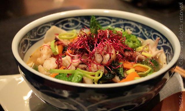 zuppa di verdure e pesce