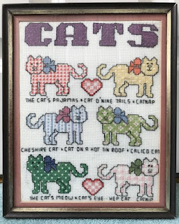 Cross stitch cats sampler