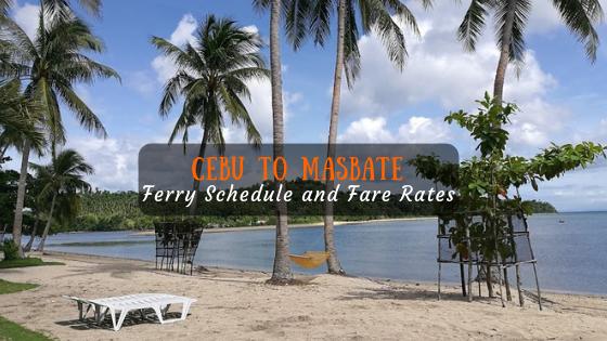 Cebu to Masbate ferry schedule