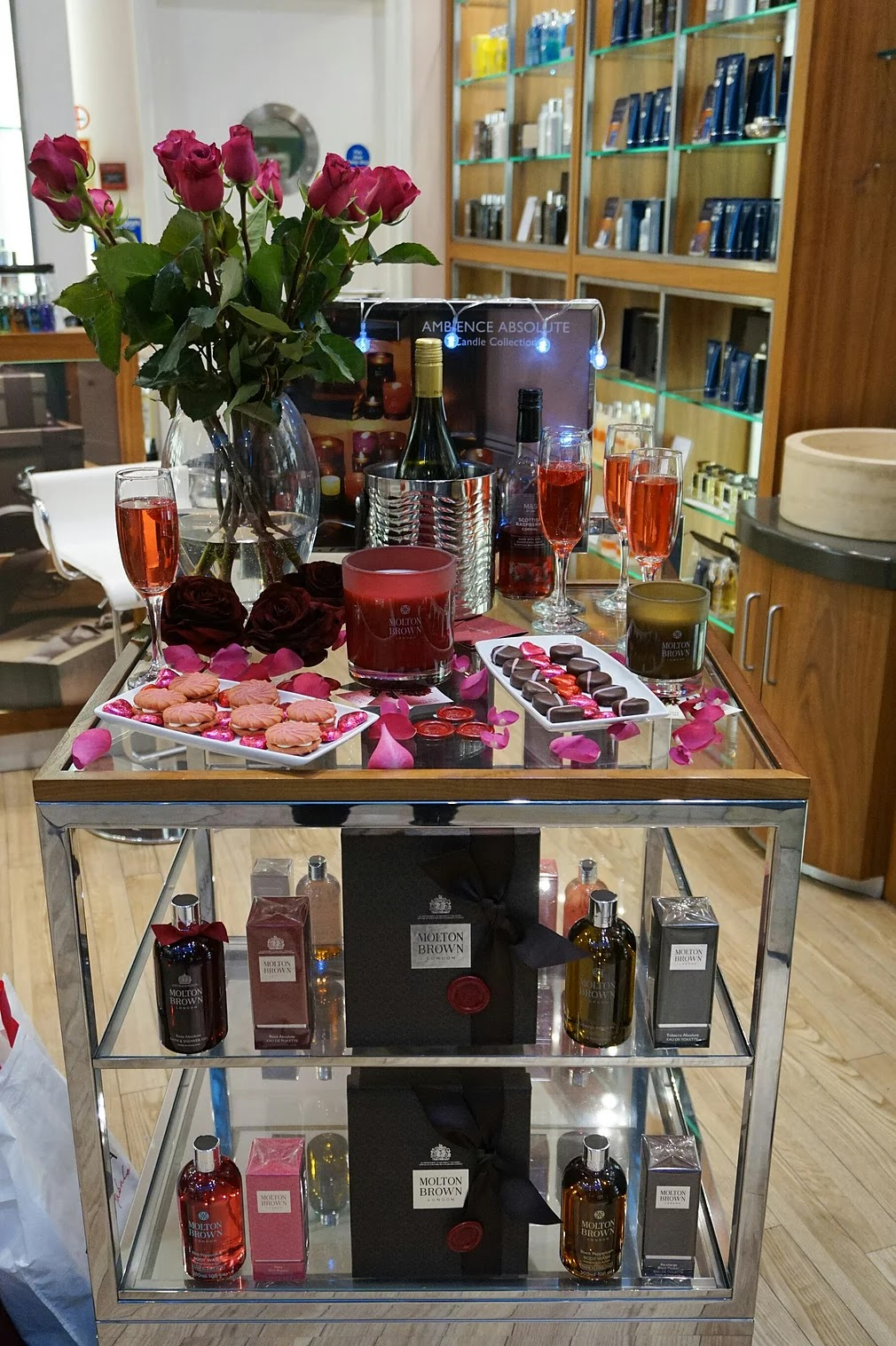 Molton Brown love absolute event store stand