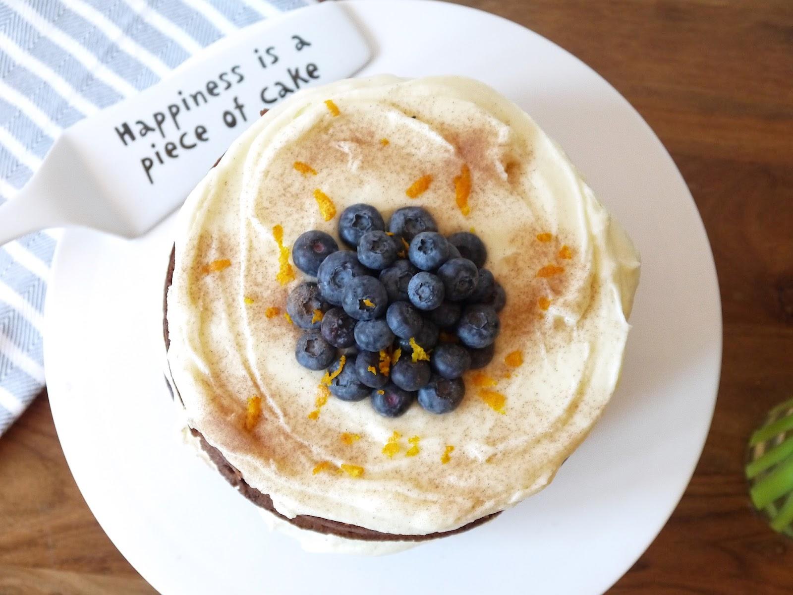 Chocolate Orange & Blueberry Cake
