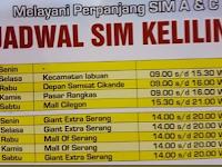 Jadwal SIM Keliling Banten Oktober 2018