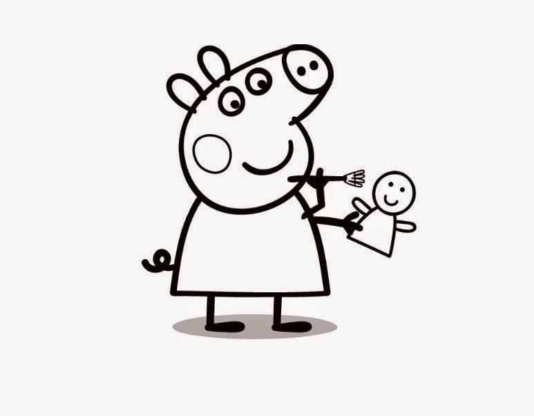Jogo Desenhos De Peppa Pig Para Colorir Pintar Imprimir Ou