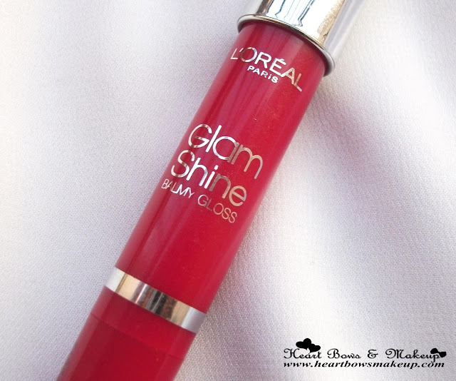 L'Oreal Glam Shine Balm Gloss Pomegranate Punch Lip Crayon Review Swatches Price