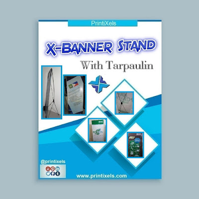 X-Banner Stand With Tarpaulin