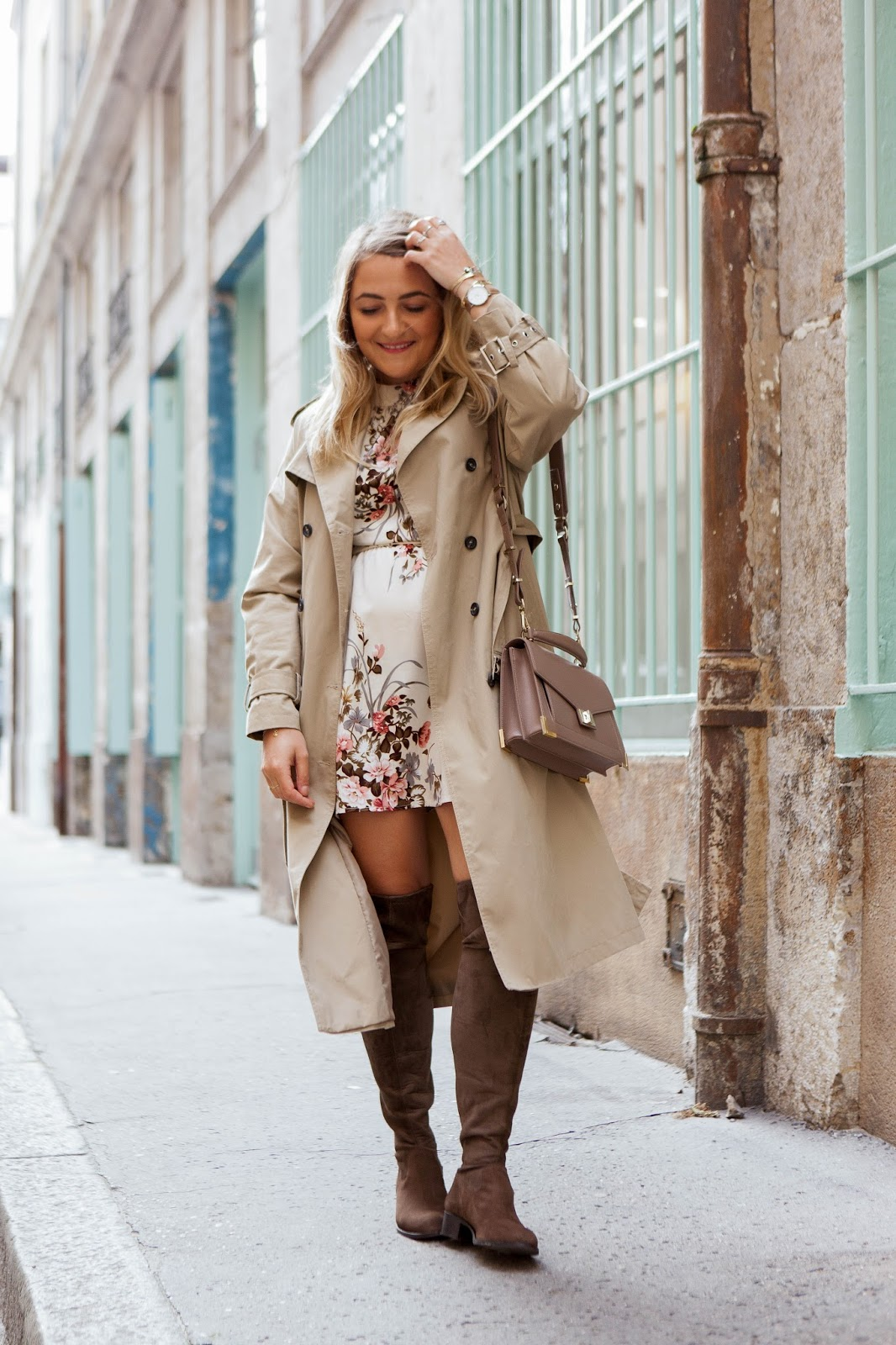 trench long beige new look parisgrenoble