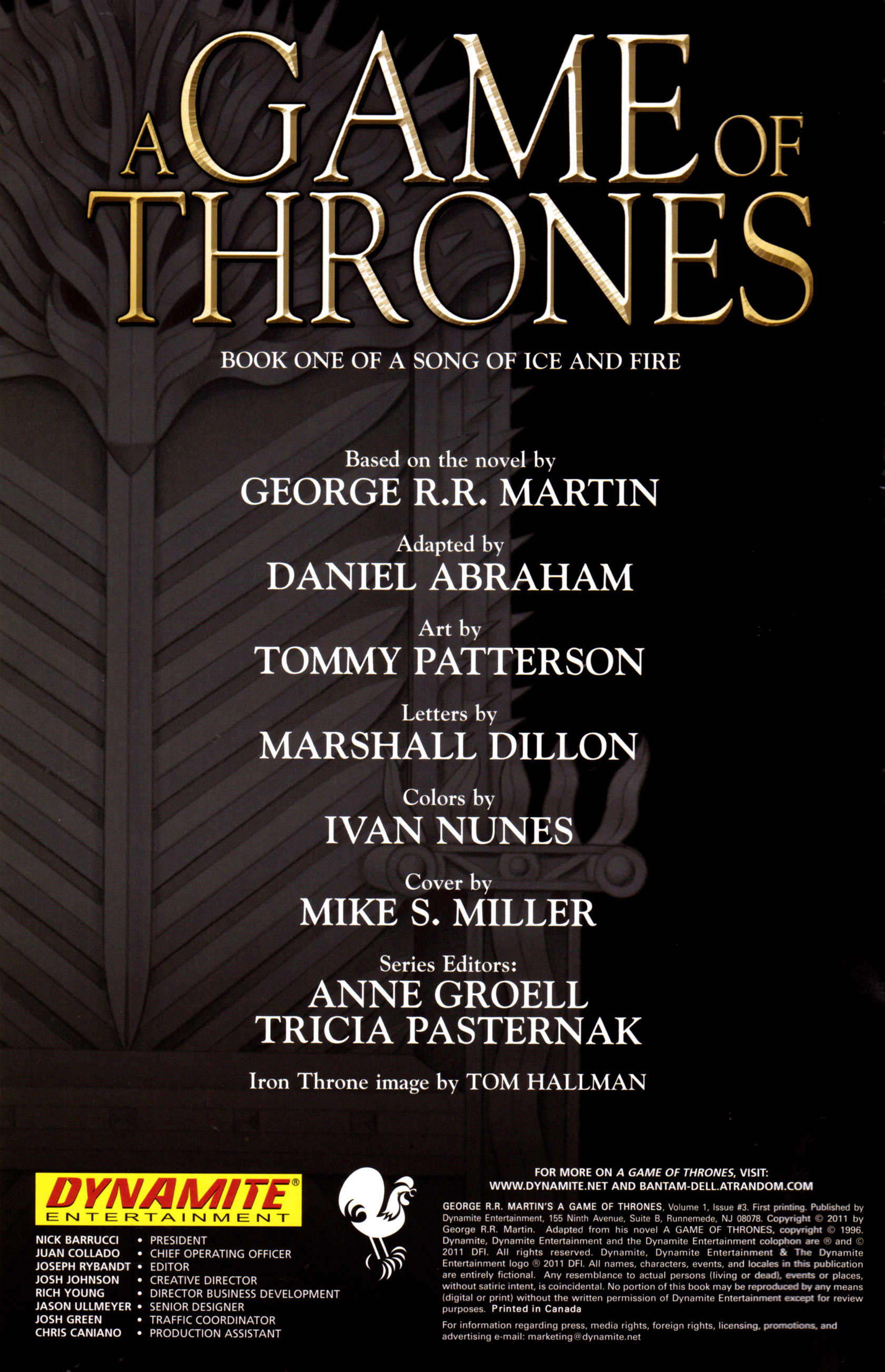 Read online A Game Of Thrones comic -  Issue #3 - 2