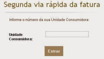 Local para informar o número da Unidade Consumidora
