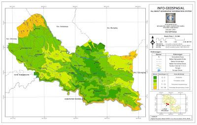 Peta Morfologi Kecamatan Ciamis