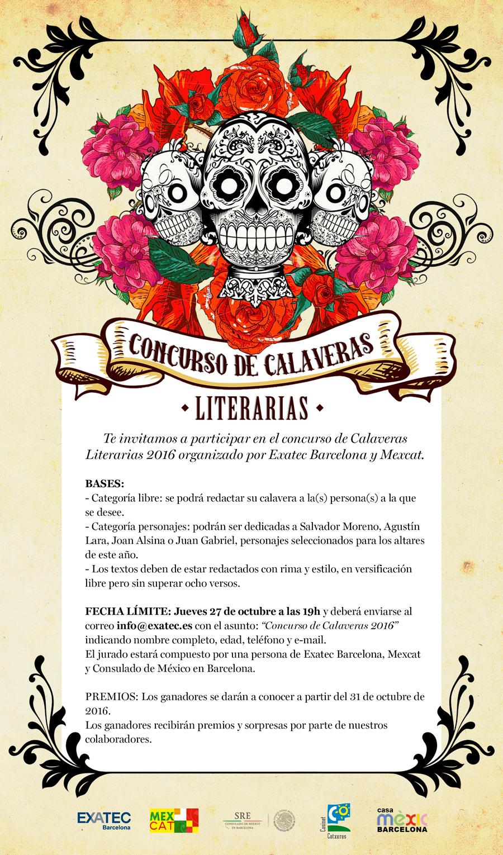Noticias concurso de calaveras literarias 2016 for Concurso de docencia 2016