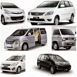 Mobil/Toyota Avanza, Kijang Innova, Hyundai H-1, Isuzu Minibus, Suzuki Ertiga, Daihatsu Xenia,