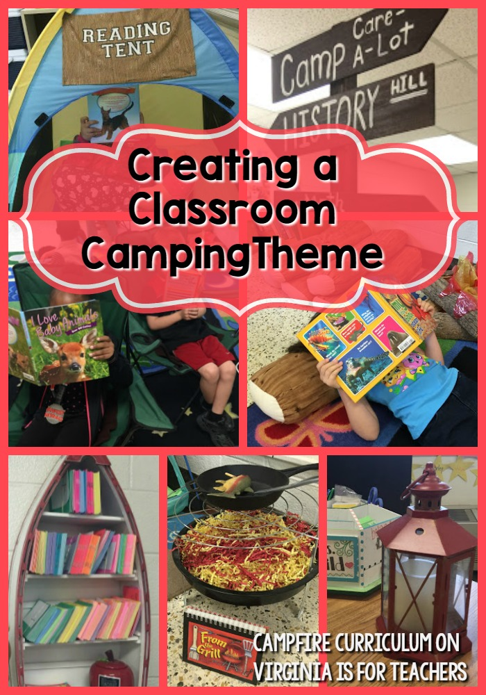 Camping Themed Classroom Decorations ~ Campfire curriculum with helpful heather make your