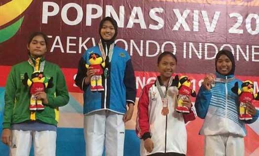 taekwondoin kota cirebon juara di kelas kyorugi