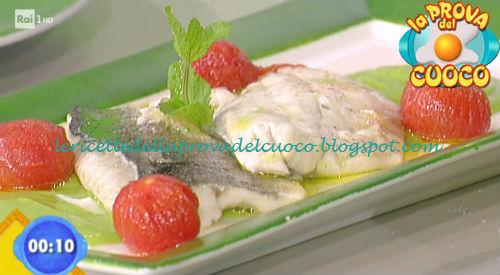 Spigola su crema di piselli ricetta Bertol da Prova del Cuoco