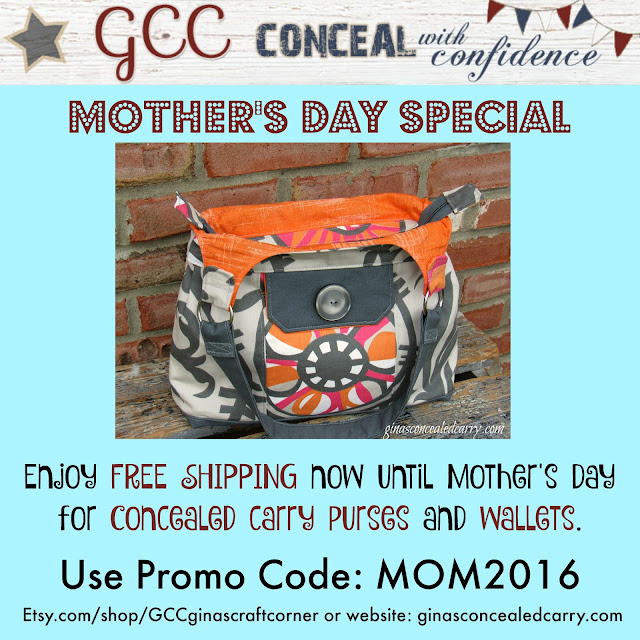fabric concealed carry purse-mother's day special