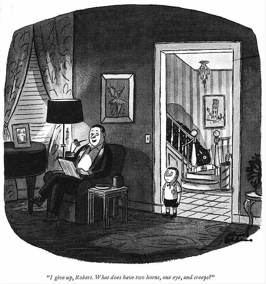 a Charles Addams cartoon