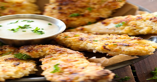 Crispy Parmesan Baked Chicken Strips Recipe