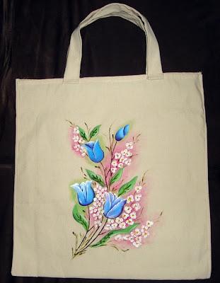 pintura em tecido sacola ecológica