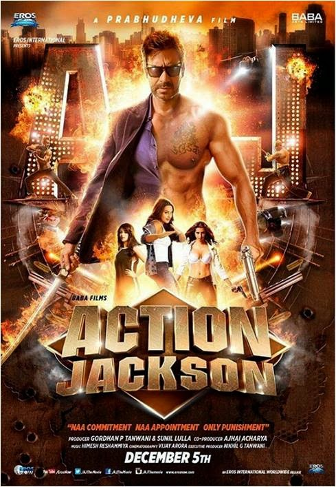 Ajay Devgan flaunting his body in angry look for Action Jackson movie poster