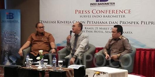 Survei Indo Barometer: Tanda Kemenangan Kuat Ada di Jokowi