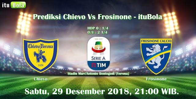 Prediksi Chievo Vs Frosinone - ituBola