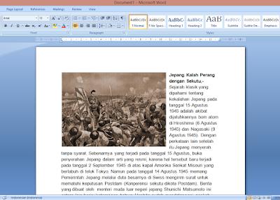 Cara Membuat Agar Posisi Gambar di Samping Teks MS Word 17