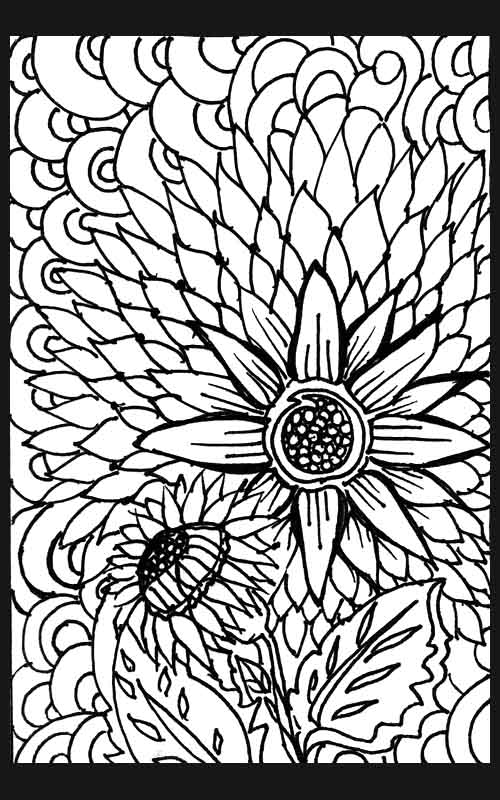 flower pattern coloring pages - photo#17