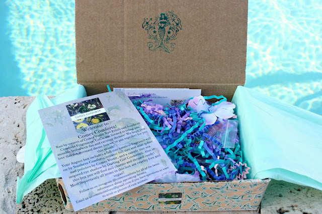 Comet Comforts Mermaid Beauty Box Review & Giveaway unboxed