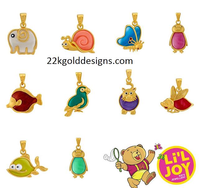 22K Gold Pendants for Kids