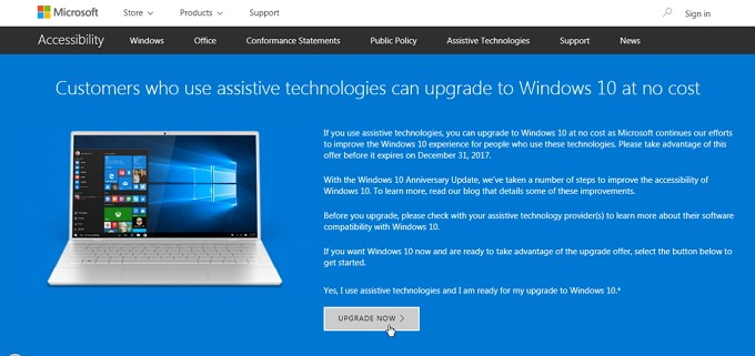 Upgrade Gratis Windows 10