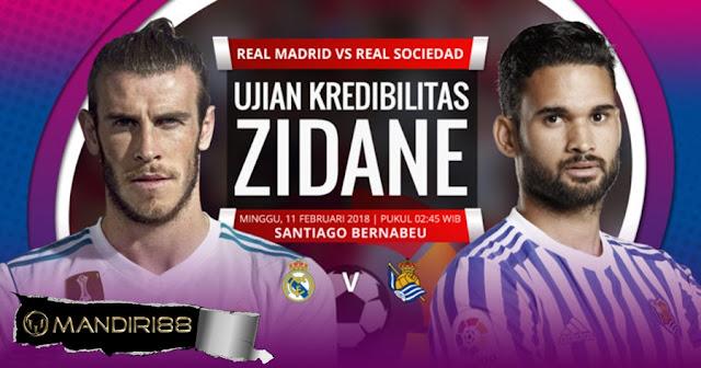 Prediksi Real Madrid Vs Real Sociedad, Minggu 11 February 2018 Pukul 02:45 WIB @ SCTV