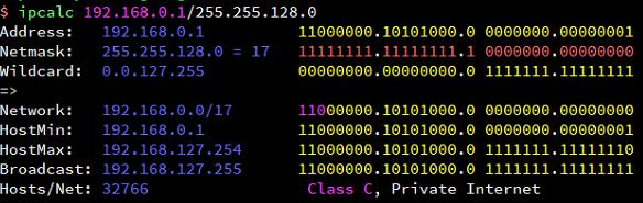 Ip アドレス 計算
